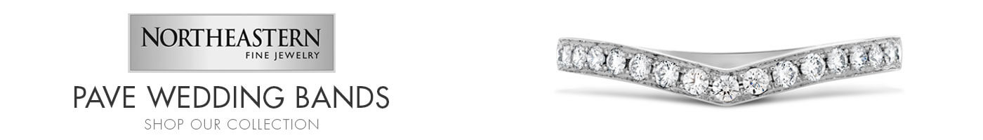Pave Wedding Bands at Northeastern Fine Jewelers